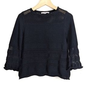 Ann Taylor LOFT Crochet Pullover Sweater